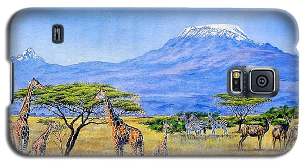 Gathering At Mount Kilimanjaro Galaxy S5 Case