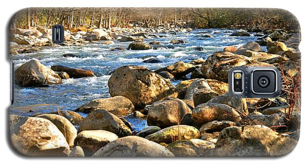 Galaxy S5 Case featuring the photograph Gatlinberg River by Donald Williams