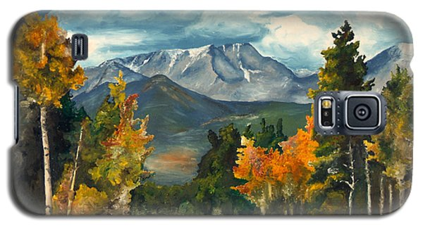 Galaxy S5 Case featuring the painting Gayle's Highway by Mary Ellen Anderson