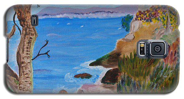 Galaxy S5 Case featuring the painting Gazing Out To Sea by Meryl Goudey