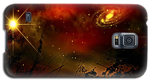 Galaxy S5 Case featuring the painting Gazing The Galaxy by Persephone Artworks