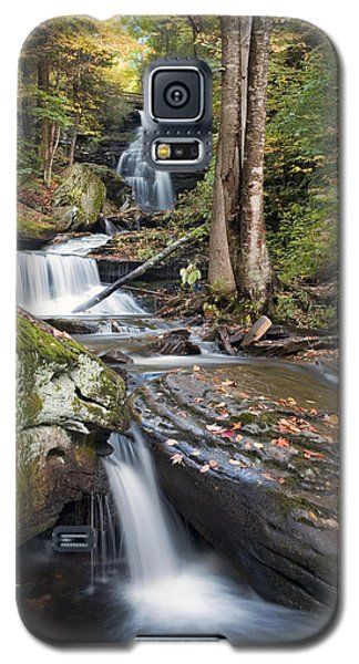 Gazing Up At Ozone Falls In Autumn Galaxy S5 Case