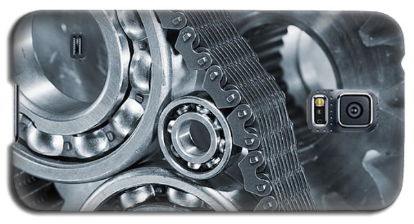 Gears And Cogs Titanium And Steel Power Galaxy S5 Case
