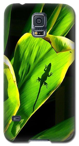 Gecko On A Leaf Galaxy S5 Case