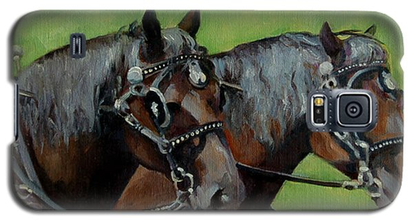 Galaxy S5 Case featuring the painting Gee And Haw by Pattie Wall