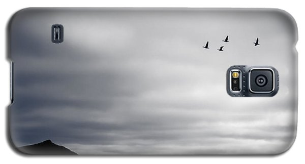 Galaxy S5 Case featuring the photograph Geese Flying South For Winter by Peta Thames
