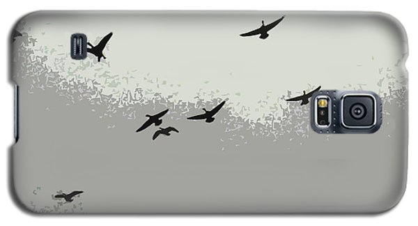 Galaxy S5 Case featuring the photograph Geese In Sillouehette by Nina Silver
