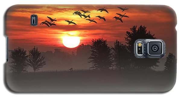 Geese On A Foggy Morning Sunrise Galaxy S5 Case