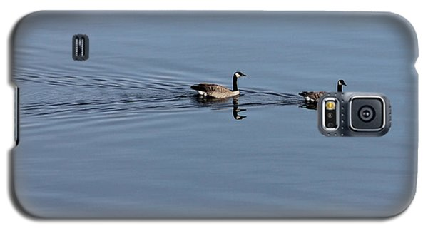 Geese Reflected Galaxy S5 Case by Leone Lund
