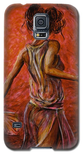 Geisha Fan Dance 02 Galaxy S5 Case