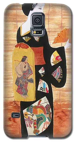 Galaxy S5 Case featuring the painting Geisha by Mini Arora