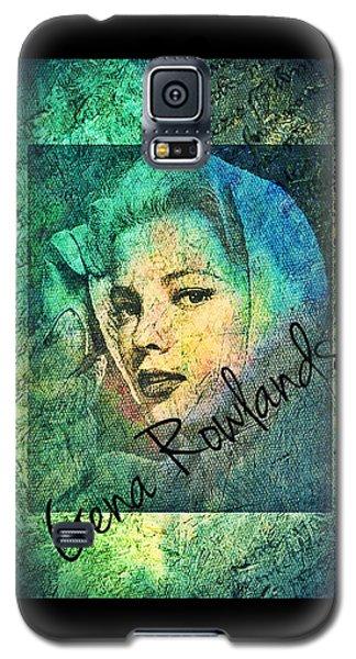 Galaxy S5 Case featuring the digital art Gena Rowlands by Absinthe Art By Michelle LeAnn Scott