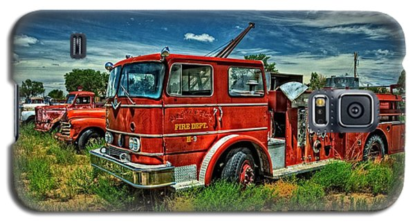 Galaxy S5 Case featuring the photograph Generations Of Fire Fighting Equipment by Ken Smith