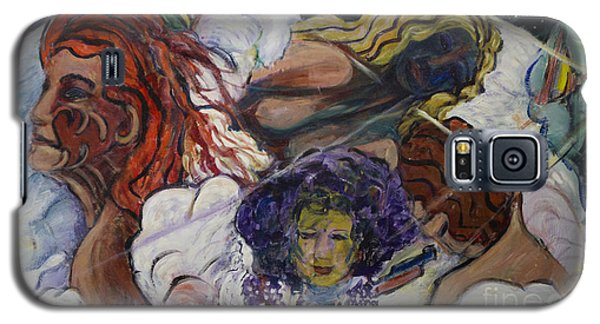 Galaxy S5 Case featuring the painting Wind Whisperers  by Avonelle Kelsey