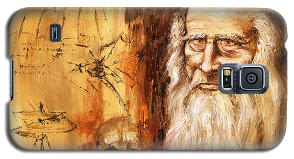 Genius   Leonardo Da Vinci Galaxy S5 Case by Arturas Slapsys