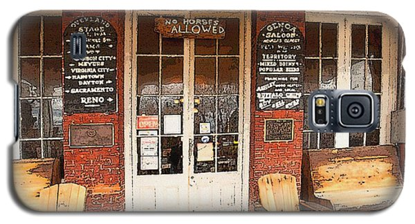 Genoa Saloon Oldest Saloon In Nevada Galaxy S5 Case by Artist and Photographer Laura Wrede