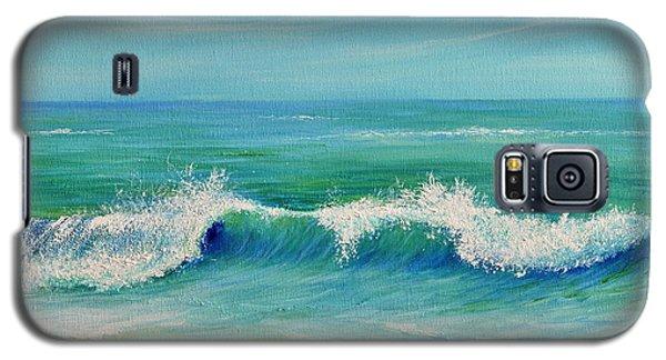 Galaxy S5 Case featuring the painting Gentle Breeze by Teresa Wegrzyn