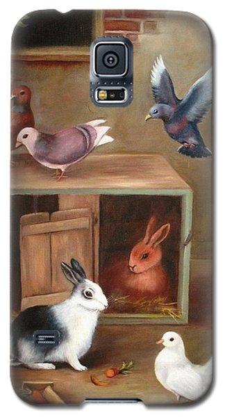 Galaxy S5 Case featuring the painting Gentle Creatures by Hazel Holland