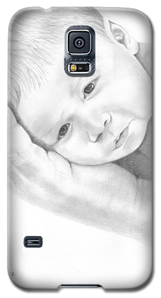 Galaxy S5 Case featuring the drawing Gentle Innocence by Patricia Hiltz