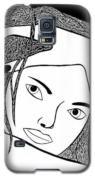 Galaxy S5 Case featuring the drawing Genuine by Jamie Lynn