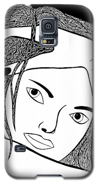 Galaxy S5 Case featuring the drawing Genuine Scars by Jamie Lynn