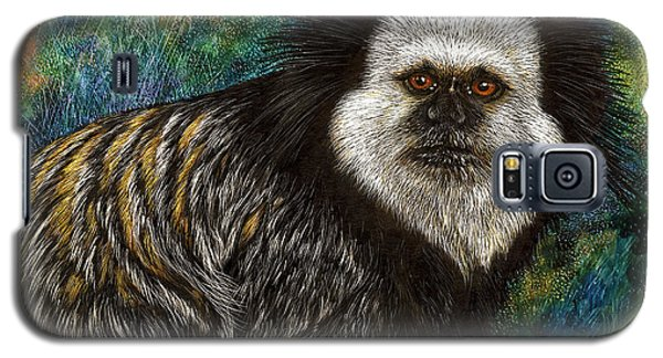 Galaxy S5 Case featuring the drawing Geoffrey's Marmoset by Sandra LaFaut