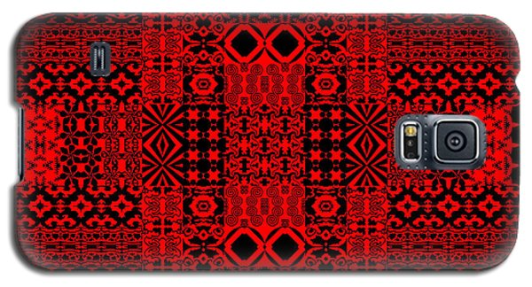 Geometric Abstract In Red Galaxy S5 Case
