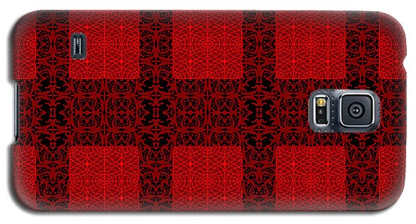 Geometric Abstract Stereo In Red Galaxy S5 Case