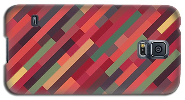 Galaxy S5 Case featuring the digital art Geometric Block by Mike Taylor