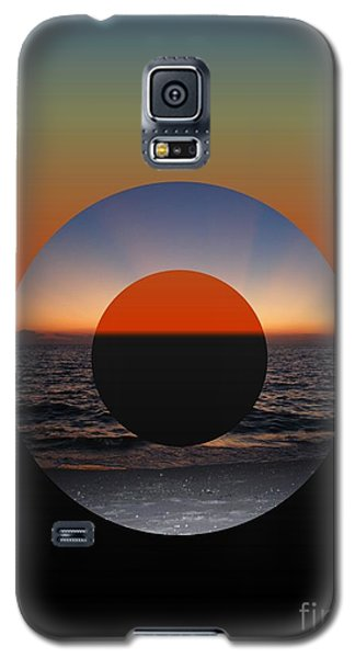 Galaxy S5 Case featuring the photograph Geometric Sunset- Circle by Darla Wood