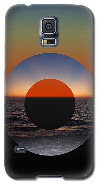 Geometric Sunset- Circle Galaxy S5 Case