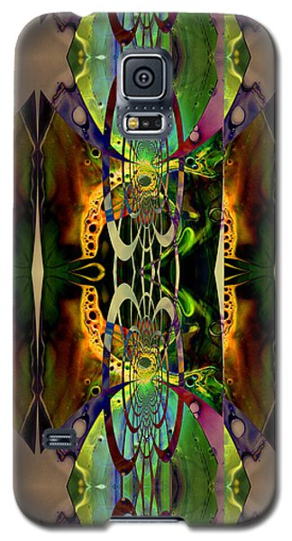 Galaxy S5 Case featuring the painting Geometrica Iphone Case by Robert Kernodle
