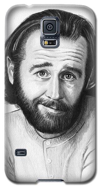 George Carlin Portrait Galaxy S5 Case by Olga Shvartsur