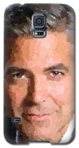 George Clooney Portrait Galaxy S5 Case