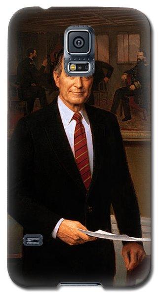George Hw Bush Presidential Portrait Galaxy S5 Case by War Is Hell Store