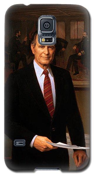 George Hw Bush Presidential Portrait Galaxy S5 Case