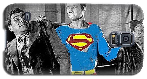 George Reeves As Superman In His 1950's Tv Show Apprehending Two Bad Guys 1953-2010 Galaxy S5 Case