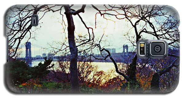George Washington Bridge At Sunset Galaxy S5 Case by Sarah Loft