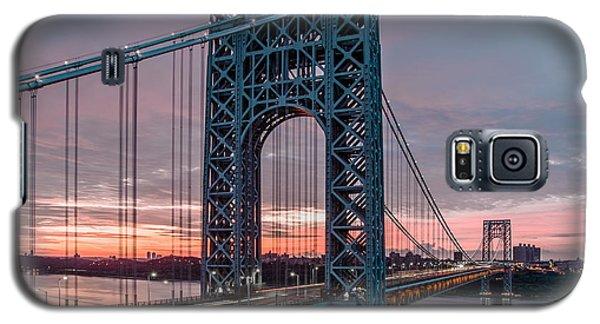George Washington Bridge At Twilight Galaxy S5 Case