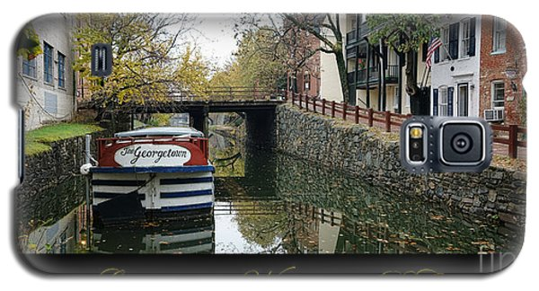 Washington D.c Galaxy S5 Case - Georgetown Canal Poster by Olivier Le Queinec