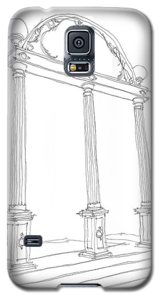 Galaxy S5 Case featuring the drawing Georgia Arch by Calvin Durham