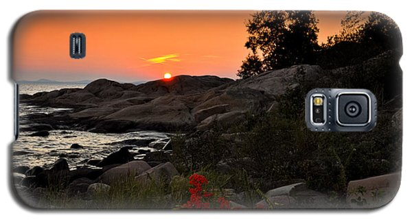 Georgian Bay Sunset Galaxy S5 Case by Les Palenik
