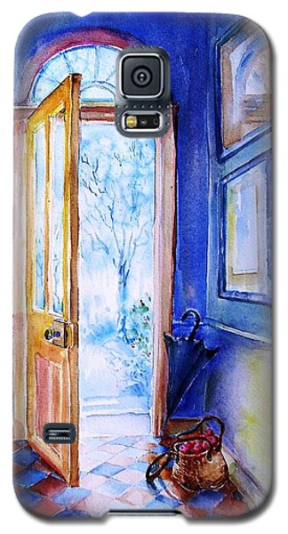 Galaxy S5 Case featuring the painting Winter Doorway Ireland    by Trudi Doyle