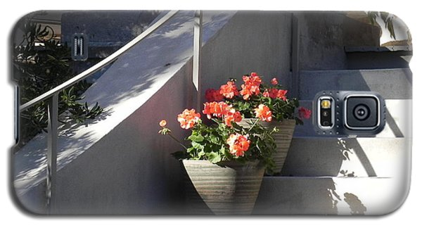 Galaxy S5 Case featuring the photograph Geraniums Look Better In Beaufort by Patricia Greer