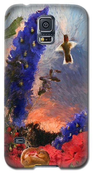 Geraniums Red And Delphiniums Blue Galaxy S5 Case