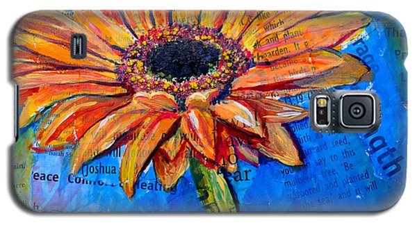 Gerbera Daisy Love Galaxy S5 Case by Lisa Fiedler Jaworski