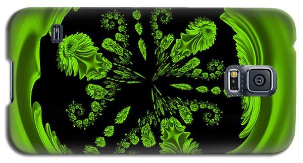 Gerbia Daisy Digitized Orb Galaxy S5 Case by Bill Barber