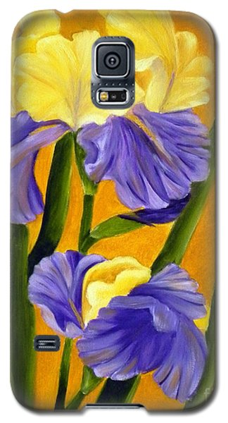 Galaxy S5 Case featuring the painting German Bearded Iris  by Shelia Kempf