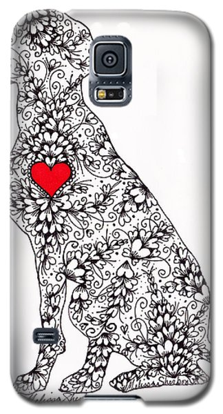 Galaxy S5 Case featuring the drawing German Pointer by Melissa Sherbon