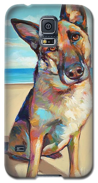 Galaxy S5 Case featuring the painting German Shepard  by Robert Phelps